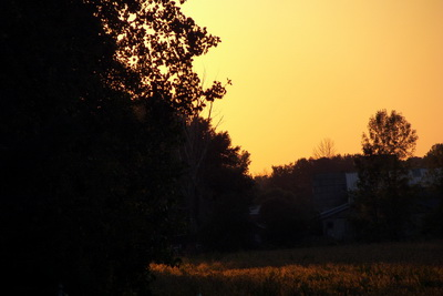 Gorgeous Sunset over farm like little house on the prarie Hamlin NY